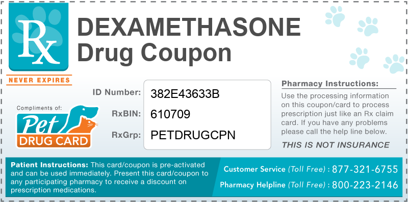 This Dexamethasone coupon provides significant prescription savings at pharmacies nationwide