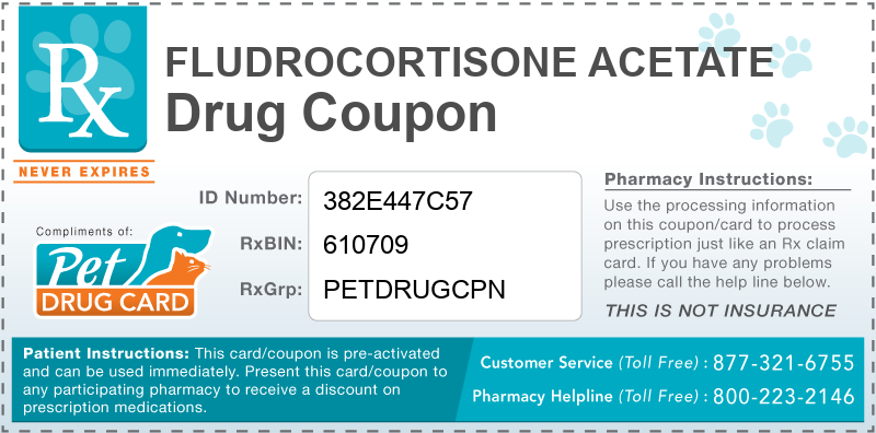 This Fludrocortisone Acetate coupon provides significant prescription savings at pharmacies nationwide