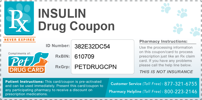 This Insulin coupon provides significant prescription savings at pharmacies nationwide