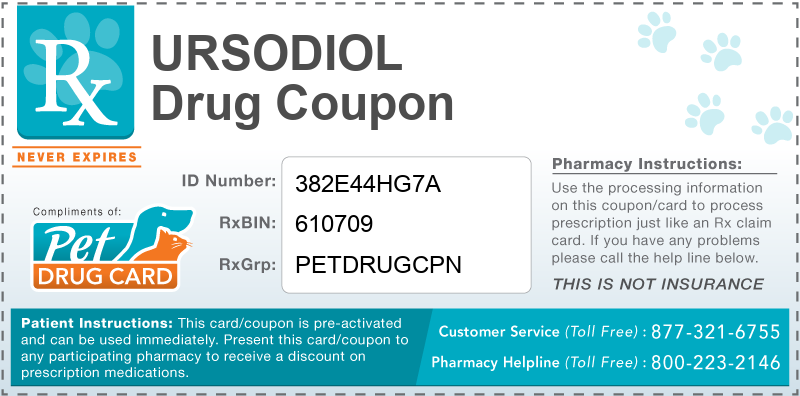 This Ursodiol coupon provides significant prescription savings at pharmacies nationwide