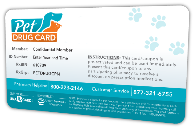 Free Discount Pet Prescription Drug Card